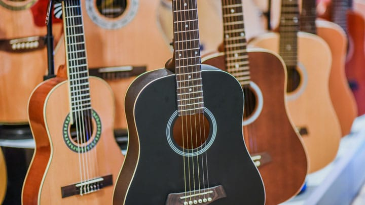 Different acoustic guitars