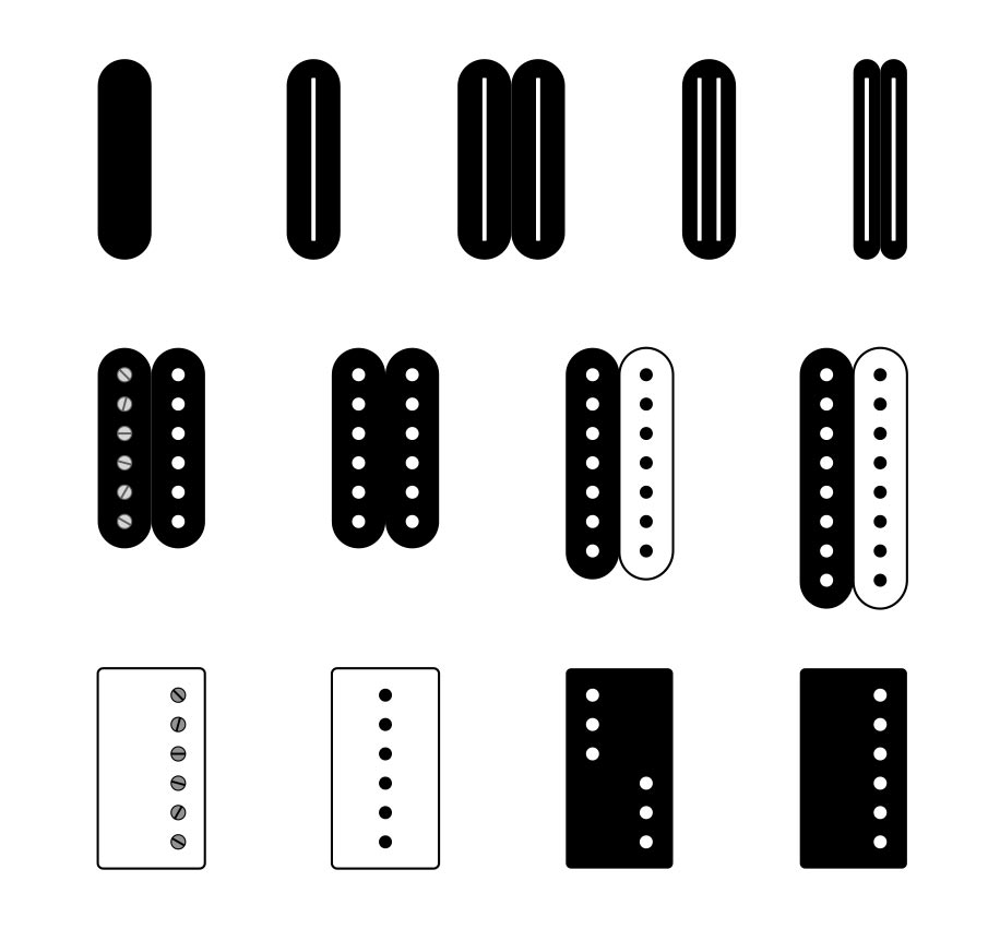 types of guitar pickups