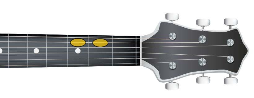 guitar semi tone (B C)