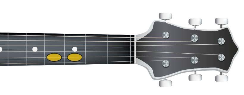 guitar semi tone (D D#)
