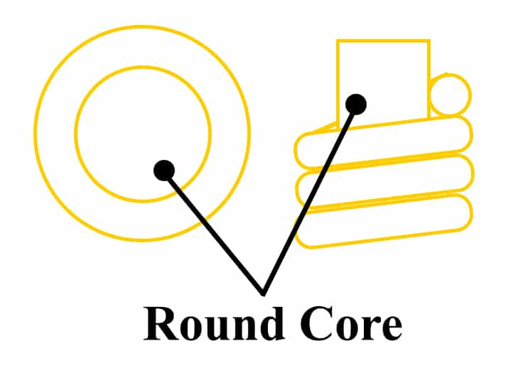 guitar strings round core