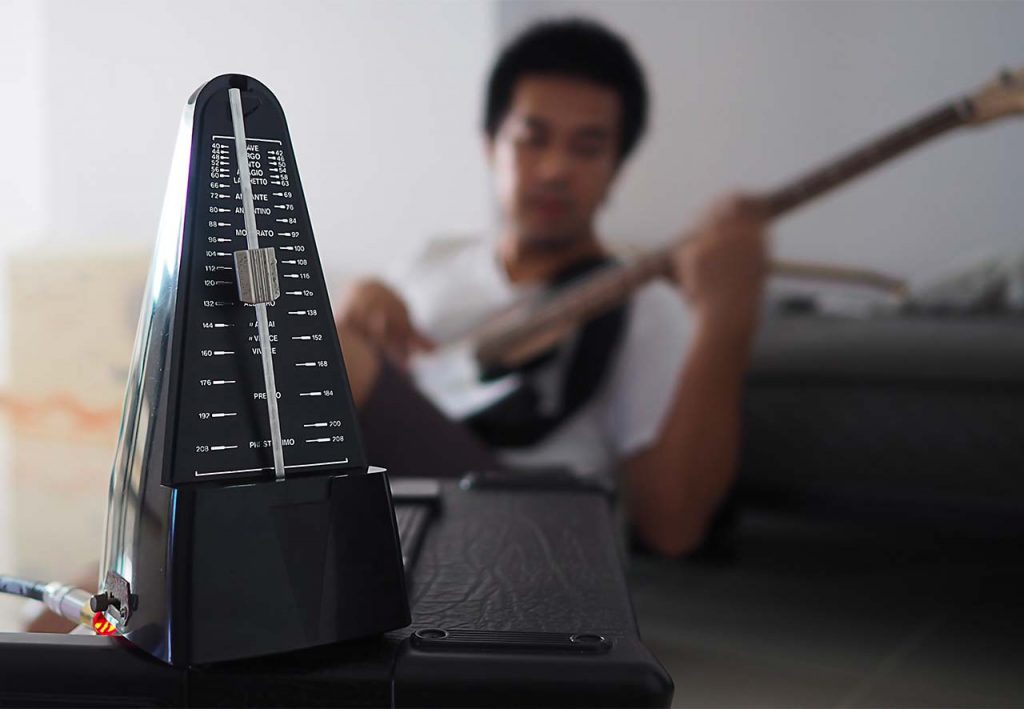 metronome and guitar