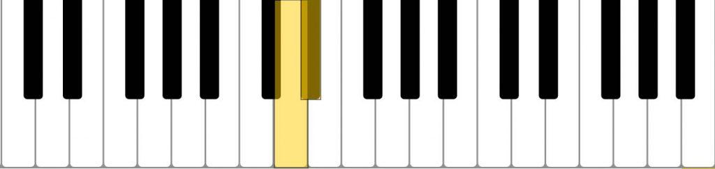 piano semi tone (D D#)