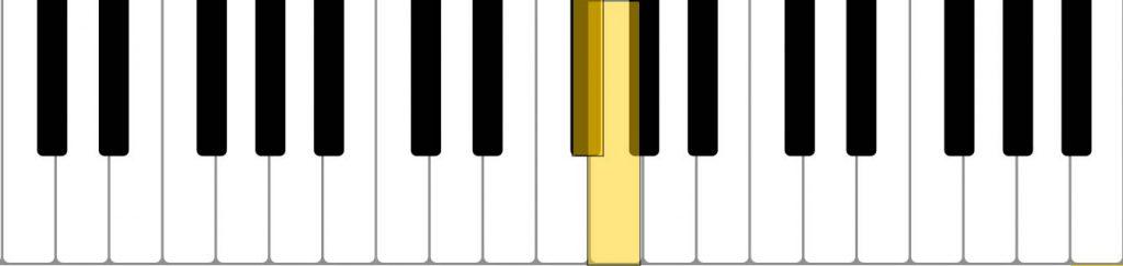 piano semitone (F# G)