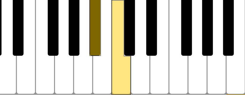 piano tone (Bb C)