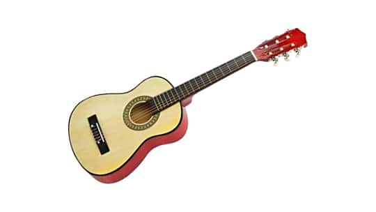30 inches natural wood lefty guitar for kids
