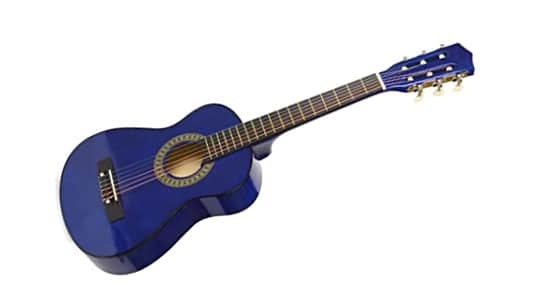 38 inches natural wood lefty guitar for kids